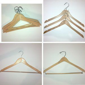 14 Vintage Wooden Hangers incl. John Thomas Batts